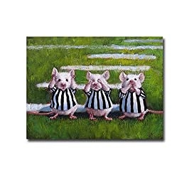Three Blind Mice by Lucia Heffernan Premium Gallery-Wrapped Canvas Giclee Art (Ready-to-Hang)