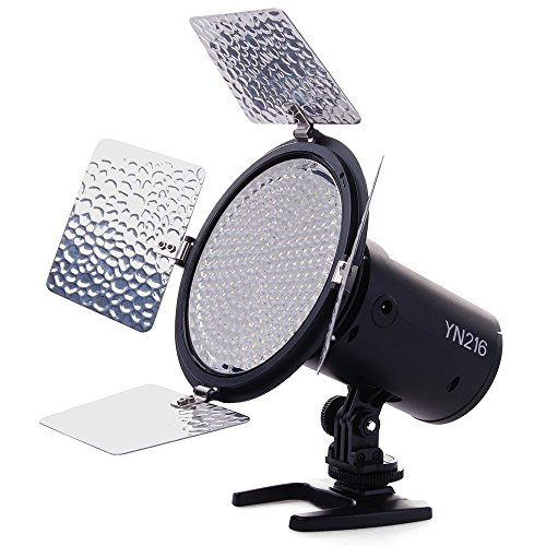 Yongnuo Yn216 Yn-216 Led Video Camera Light With 4 Color Plates For Canon Nikon Dslr Cameras