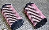 2 x NEW Yamaha Banshee K&N style air filters 26mm STOCK SIZE carbs 28 30mm