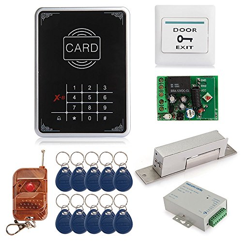 Single Door Rfid Proximity Entry Touch Key Lock Access Control System Kit Set For Home Security