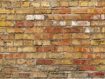 "Wallmonkeys Peel and Stick Wall Graphic - Orange, Yellow, and Red Brick Wall, Wide View - 24""W x 18""H"