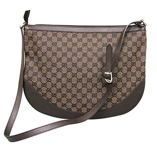 f7d52eb6a07 Gucci Canvas leather Crossbody Messenger BAG Large 272380 8370 ...