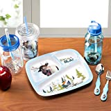 Zak! Designs 3-Section Plate with Olaf & Sven from Frozen, BPA-free