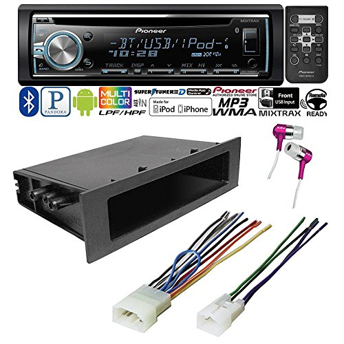 CAR CD STEREO RECEIVER + DASH INSTALL MOUNTING KIT+ WIRE HARNESS TOYOTA 1984 - 2004 (Toyota Tacoma Stereo System compare prices)