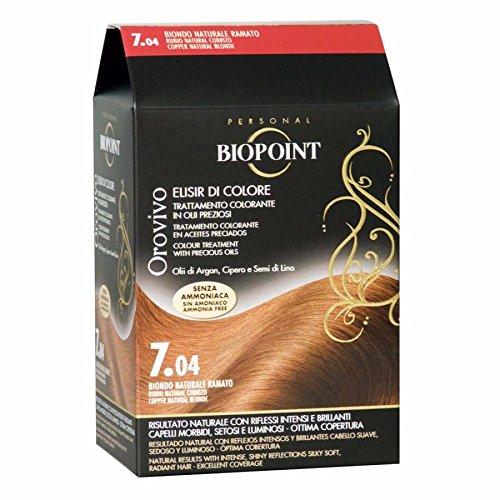 Biopoint Orovivo Elisir Di Colore N. 7.04 Biondo Naturale Ramato Trattamento Colorante In Olii Preziosi Senza Ammoniaca