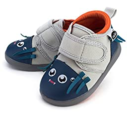 Silk Von Webster Squeaky Shoes for Toddlers w/ Adjustable Squeaker, Size 4, By ikiki