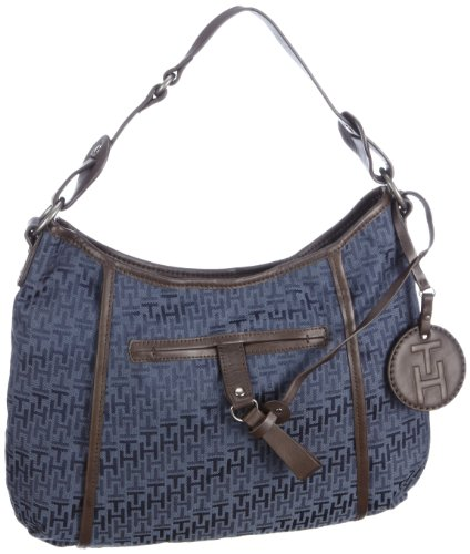 Tommy Hilfiger Women's Mckenzie 1 Small Hobo Handbag Navy Bw86913262