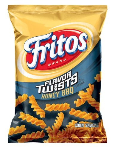 Fritos Corn Chips, Twists Honey Bbq, 10.25 Ounce