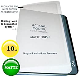 Clear Plastic low glare Report Covers 10 Mil Matte Binding Sheets 8-1/2 x 11 Qty 100