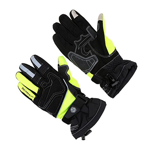 1 Pair Scoyco Outdoor Sports Gloves Screen Touch Winter Gloves Waterproof Windproof Thermal Motorcycle Racing Gloves