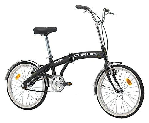 Bicicletta Pieghevole Car Bike in Acciaio 20 Pollici Nero