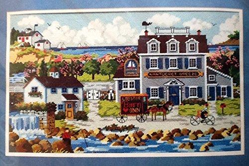 """Vintage 1989 Large Needlepoint ~ """"Nantucket Breeze"""" ~ #2359 Charles Wysocki front-57935"""