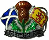 Scotland the Brave Belt Buckle + display stand