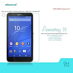 Nillkin Anti-Explosion Glass Screen Protector for Sony Xperia E4 - Retail Packaging - Transparent/Clear