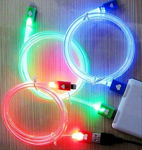[OHAGI] iPhone アイフォン 充電器 光る LED ライトニング 充電ケーブル iPhone6 iPhone5 ipad ipadmini アイフォン6 アイフォン5 アイパッド アイパッドミニ 用 USBケーブル (ブルー)