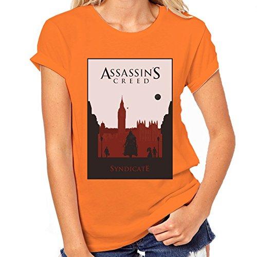 Assassin's Creed Syndicate-Maglietta classica da donna arancione XXL