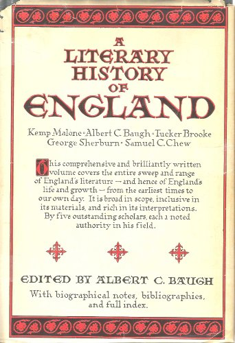 A LITERARY HISTORY OF ENGLAND Four Volumes in One/Library Edition