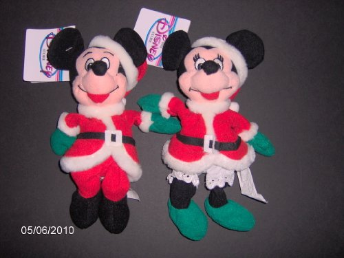 Mickey And Minnie Santa 1997 - Disney Mini Bean Bag Plush - 1