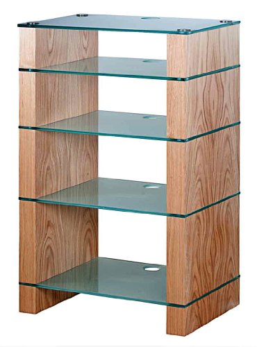 Cheap BLOK STAX DeLuxe 500 Five Shelf Oak Hifi Audio Stand & AV TV Furniture Rack Unit (B003DVHW2W)