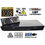 2014 Blu Ray Lecteur SONY BDP-S1200 Multi Region Zone Free Blu Ray DVD Player - PAL/NTSC - Worldwide Voltage 100~240V - 1 USB, 1 HDMI, 1 COAX, 1 ETHERNET Connections + 6 Feet HDMI Cable Included.