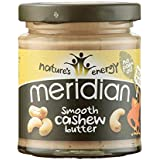 Meridian Natural Cashew Butter Whole Nut Spread 170 g (Pack of 3)