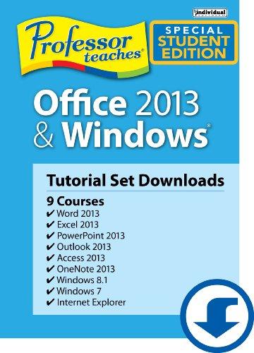 Professor Teaches Office 2013 & Windows Tutorial Set - Academic [Download]