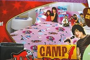 Disney Camp Rock High School Musical Purple Flannel Sheet Set 'Follow Your Dream'