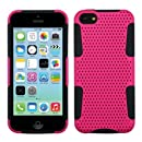 Asmyna Astronoot Phone Protector Cover for iPhone 5C - Retail Packaging - Hot Pink/Black