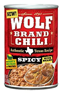 Wolf Brand Chili Spicy with Beans, 15 Ounce (Pack of 12) by Wolf
