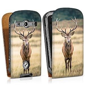 Samsung Galaxy Xcover 2 Downflip Tasche Hülle weiß - König des Waldes