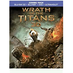 Wrath of the Titans (3D Blu-ray + Blu-ray + DVD +UltraViolet Combo Pack)