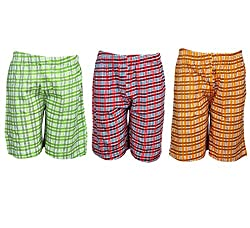 Spictex Boys' Cotton Shorts (Pack Of 3) (SPIC-CT142-PC3-08_Multicolor_6 Years - 7 Years)