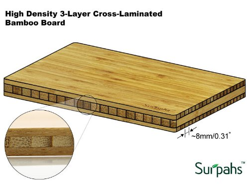 Surpahs layer cross laminated bamboo cutting board