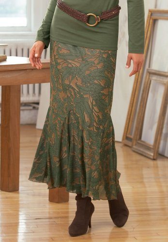 Leaf-Print Skirt - Buy Leaf-Print Skirt - Purchase Leaf-Print Skirt (Chadwicks, Chadwicks Skirts, Chadwicks Womens Skirts, Apparel, Departments, Women, Skirts, Womens Skirts)
