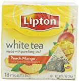 Lipton Pyramid Tea Bag, White Tea Mango Peach, 18Count
