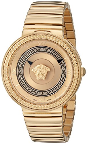 Versace-Womens-VLC090014-V-METAL-ICON-Analog-Display-Swiss-Quartz-Gold-Watch