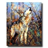 Grey Wolf Howling Trees Wolves Animal Wildlife Home Decor Wall Picture 16x20 Art Print