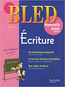Ecriture Grande section maternelle (French Edition): 9782011698322