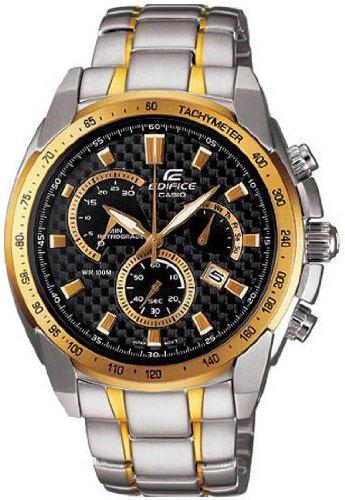Casio Edifice Two Tone Chronograph Men S Watch Ef521sg 1av