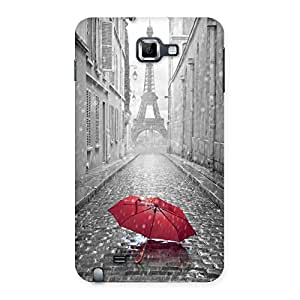 Cute Tower Red Umbrella Multicolor Back Case Cover for Galaxy Note