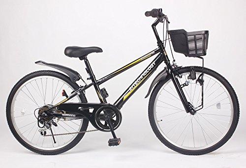21Technology 24インチ マウンテンバイク kd246 6段ギア付き (ブラック24)