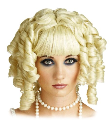 Short Blond Curly Wig Princess Hair Frames Face Womens Theatrical Costume