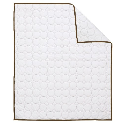 Quilted Circles White/Choc Crib Quilt