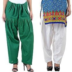 NumBrave Women's Light toned Cotton Patiala Salwar