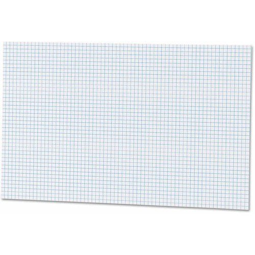 Ampad Quadrille Double Sided Pad, 11 x 17, White, 4x4 Quad Rule, 50 Sheets, 1 Pad (22-037)