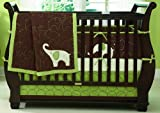 Carter's Elephant 4 Piece Crib Bedding Set, Green