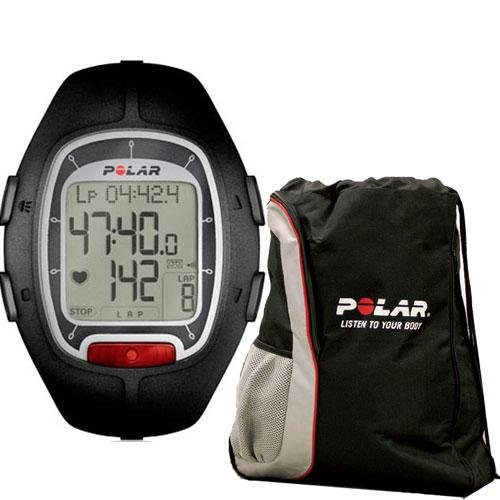Cheap Polar RS-100 Heart Rate Monitor Black with FREE Polar Cinch Bag (RS-100Kit)