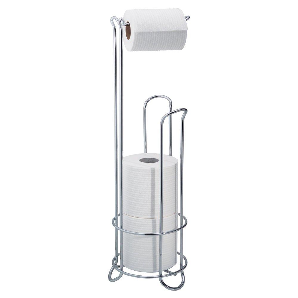 Interdesign toilet paper towel stand holder tissue roll rack display storage new ebay - Interdesign toilet paper holder ...