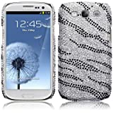 Samsung Galaxy S3 i9300 Zebra Striped Diamante Case / Cover / Shell / Shield PART OF THE QUBITS ACCESSORIES RANGEby Qubits