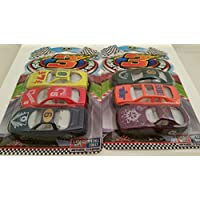 "Die-cast Metal Racing Cars _ TWO Sets Of 3-ct. Packs Of 2¾"" (L) Die-cast Cars _ Total Of 6 Differen"
